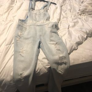 F21 Distressed Pant Overall